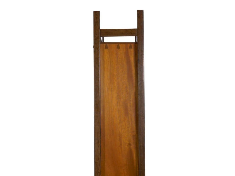 Modern Freestanding Dovetailed Mahogany and Ebony Bookcase Cabinet by John Hein For Sale 2