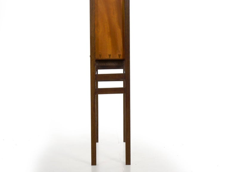 Modern Freestanding Dovetailed Mahogany and Ebony Bookcase Cabinet by John Hein For Sale 3