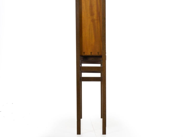 Modern Freestanding Dovetailed Mahogany and Ebony Bookcase Cabinet by John Hein For Sale 5