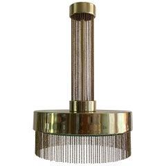 Modern French Brass Chandelier by Pierre Cardin for Laurel