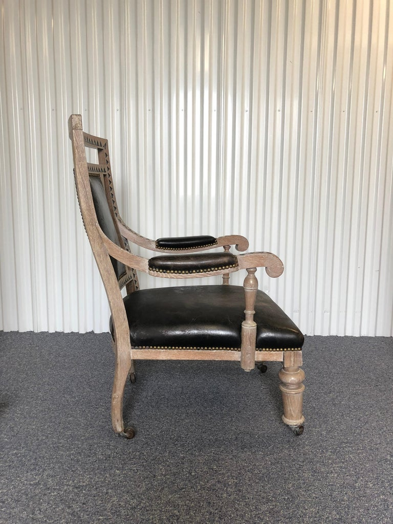 Modern French Empire Armchair In Excellent Condition For Sale In Southampton, NY