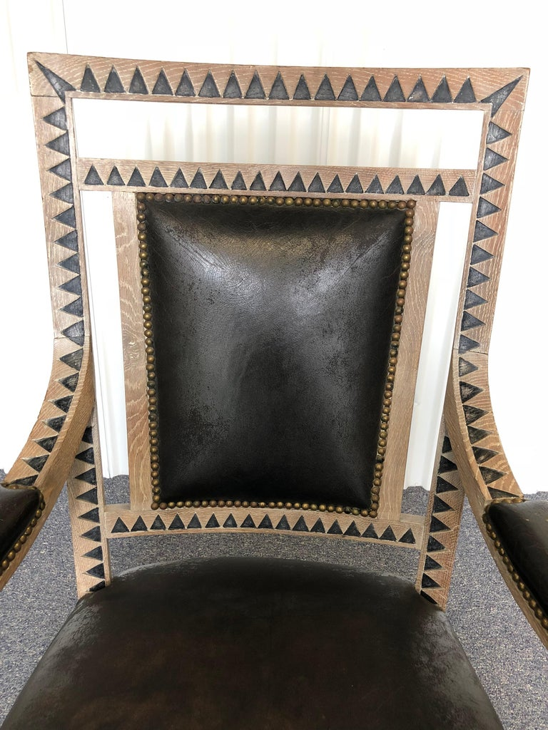 Modern French Empire Armchair For Sale 2