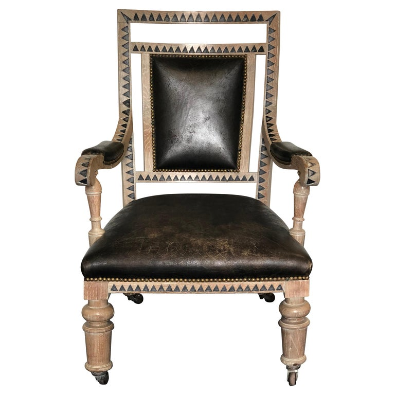 Modern French Empire Armchair For Sale