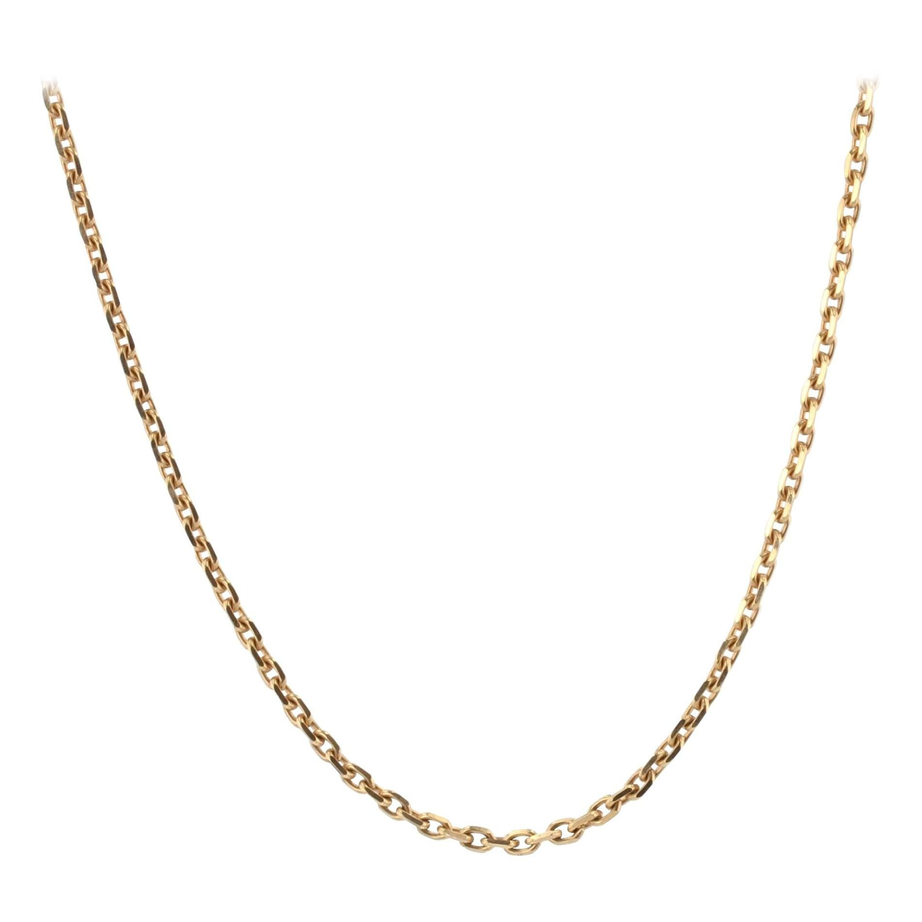 Modern French Filed Convict Link 18 Karat Rose Gold Chain