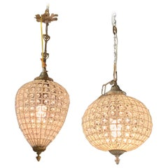Modern French Style Beaded Pendant Lights