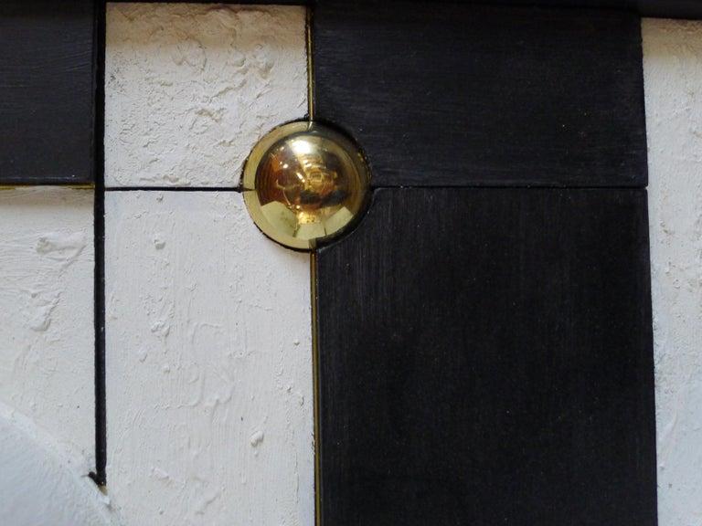 Brass Modern Frieze Three-Dimensional Wall Art by Paul Marra For Sale