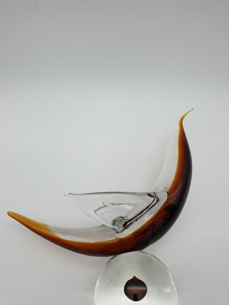 Modern Futuristic Murano Glass Sculpture by Cenedese, circa 1970s For Sale 4