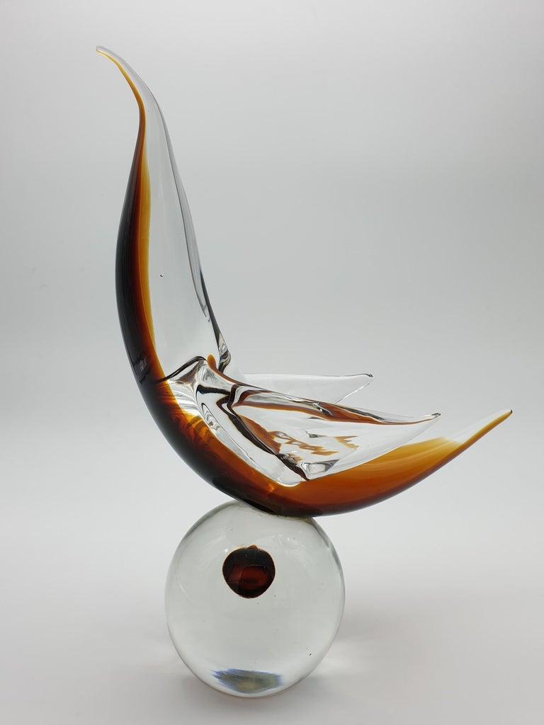 Modern Futuristic Murano Glass Sculpture by Cenedese, circa 1970s In Good Condition For Sale In Venice, Murano
