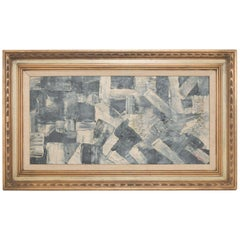 Modern Geometric Abstract Art on Canvas Board by M. Chavez