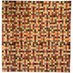 Modern Geometric Design Handmade Cotton Rug
