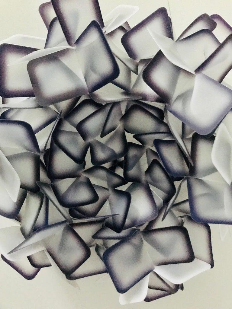 Modern Geometric Flush Mount Chandelier in Woven Resin Clusters by Slamp For Sale 5