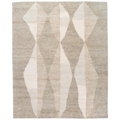 Modern Geometric Moroccan Style Handmade Wool Rug