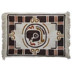 Modern Geometric Scandinavian Folk Art Tapestry