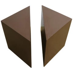 Modern Geometric Square Side Table or Two-Part Drinks Table