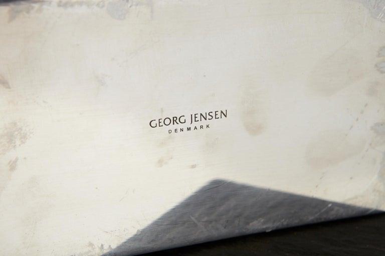 Modern Georg Jensen Large Stainless Candleholder Copenhagen For Sale 2