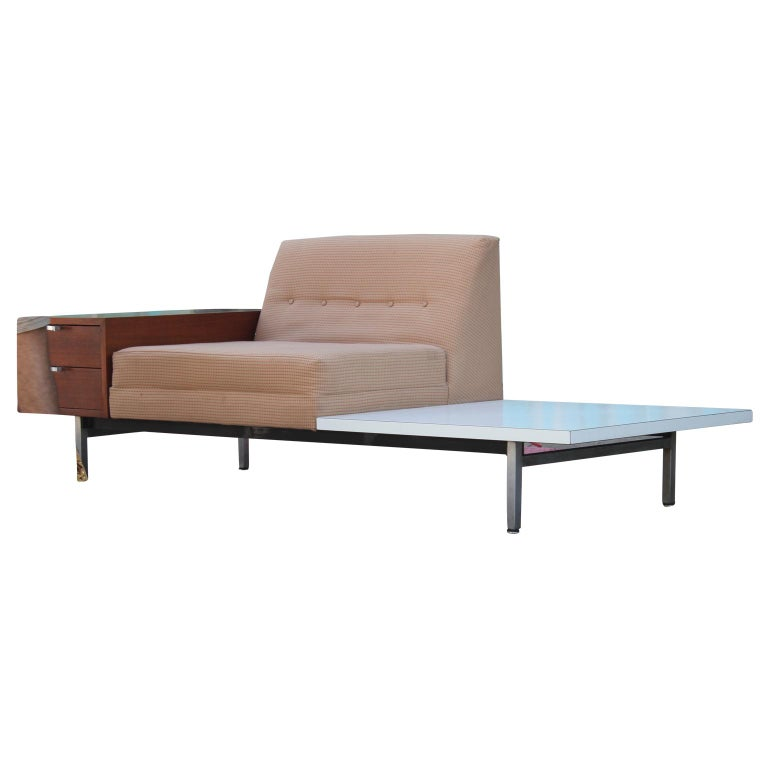 Mid-20th Century Modern George Nelson Herman Miller Modular Group Sofa with Side Table & Drawers For Sale