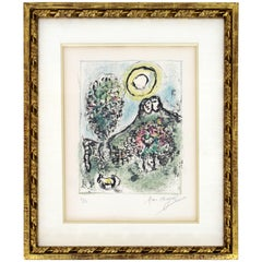 Modern Gilt Framed Marc Chagall Signed Lithograph Le Baou de St-Jeannet II 5/50