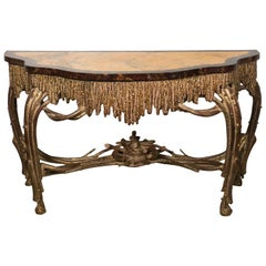 Modern Giltwood Console