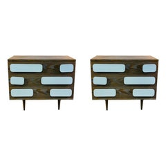 Modern Gio Ponti Style Nightstands or Chests of Drawers