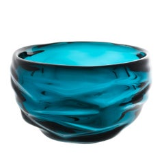 Decorative Glass Bowl, Lagoon Happy Bowl by Siemon & Salazar - Made to Order