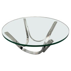 Modern Glass Cocktail Table by Roger Sprunger for Dunbar 1970