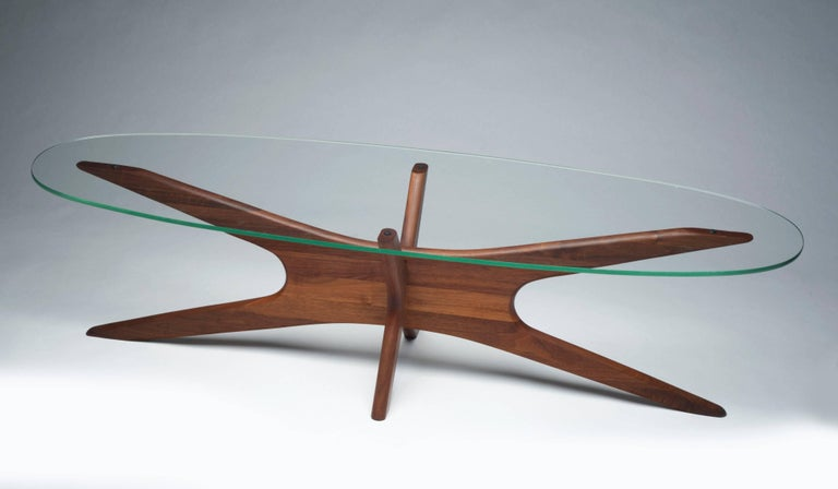 Mid-Century Modern Vintage Modern Glass Abstract Sculpture Coffee Table by Adrian Pearsall For Sale