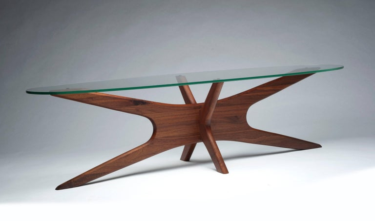 Vintage Modern Glass Abstract Sculpture Coffee Table by Adrian Pearsall For Sale 3