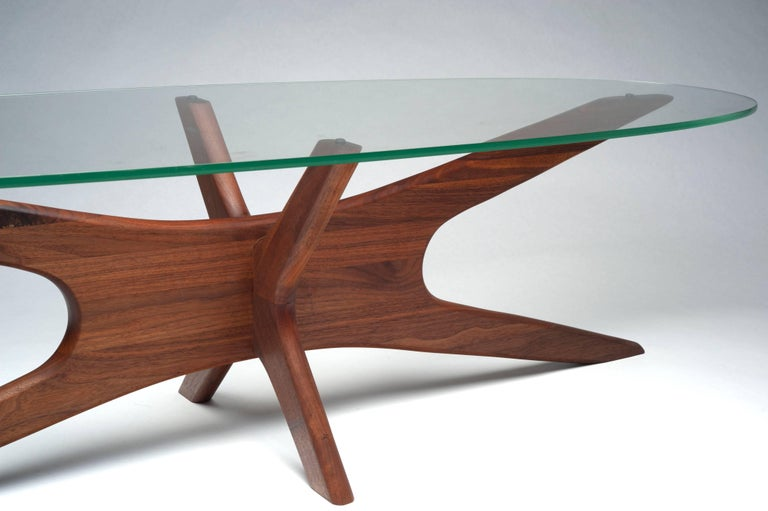 Vintage Modern Glass Abstract Sculpture Coffee Table by Adrian Pearsall For Sale 5