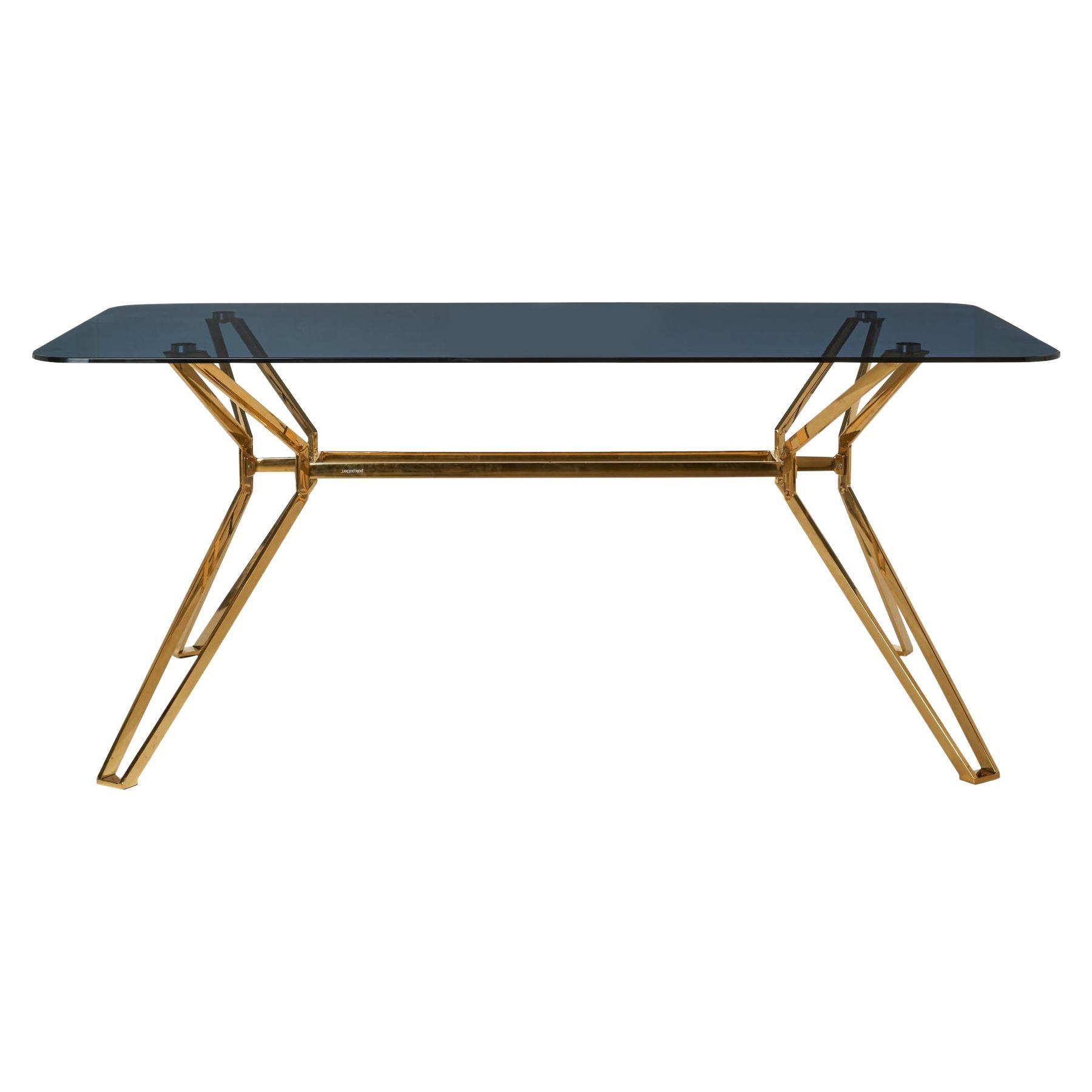 Modern Glass Dining Table, Pols Potten Studio