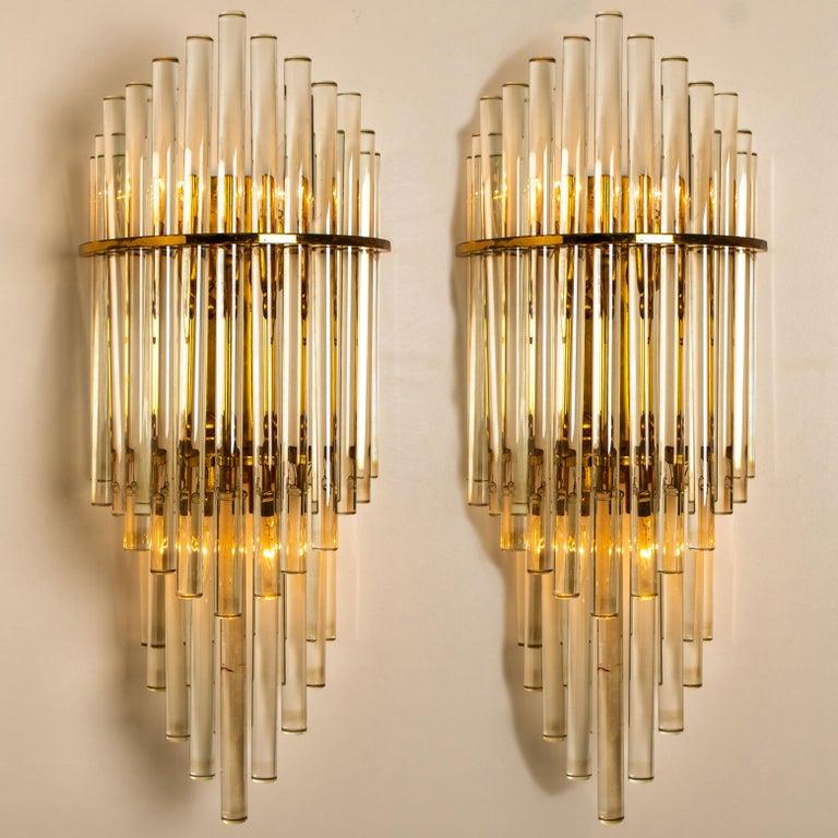 Modern Glass Rod Waterfall Flushmount Sciolari for Lightolier, 1970 For Sale 4