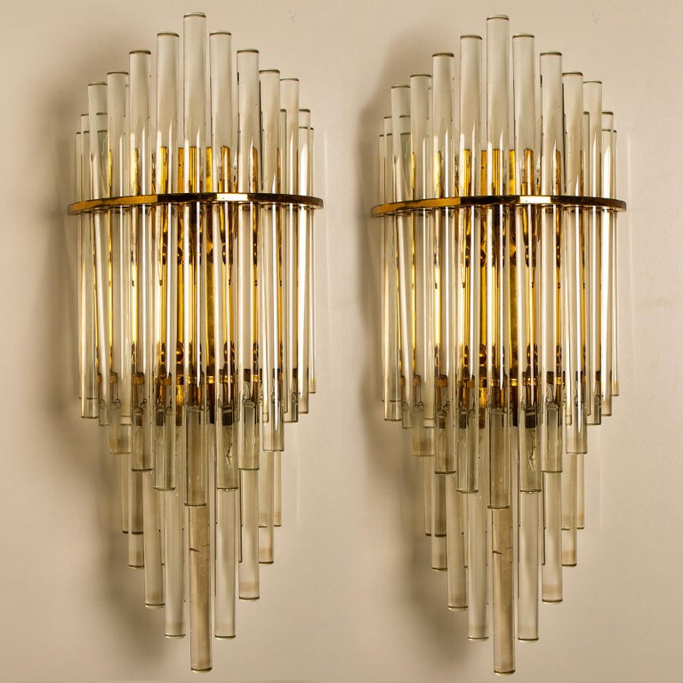 Modern Glass Rod Waterfall Flush Mount Sciolari for Lightolier, 1970 For Sale 5