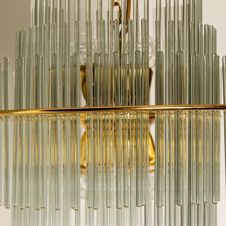 Modern Glass Rod Waterfall Flushmount Sciolari for Lightolier, 1970 In Good Condition For Sale In Rijssen, NL