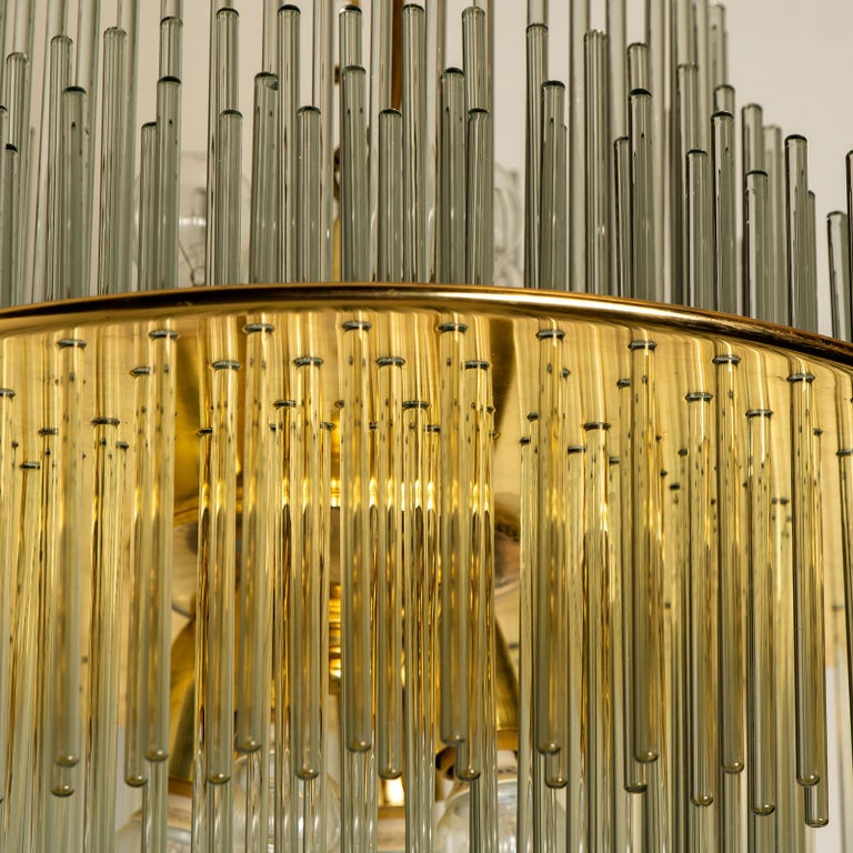 Modern Glass Rod Waterfall Flush Mount Sciolari for Lightolier, 1970 For Sale 1