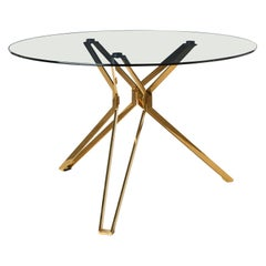 Modern Glass Round Table, Pols Potten Studio