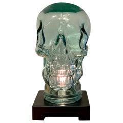Modern Glass Skull Lamp