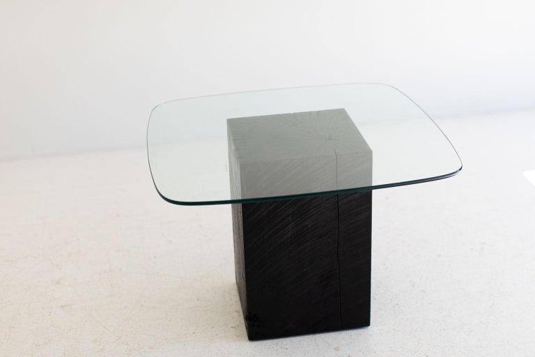 Modern Glass Top Coffee Table For Sale 4