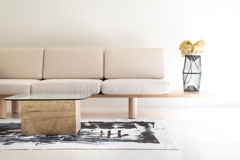 Modern Glass Top Coffee Table For Sale 5