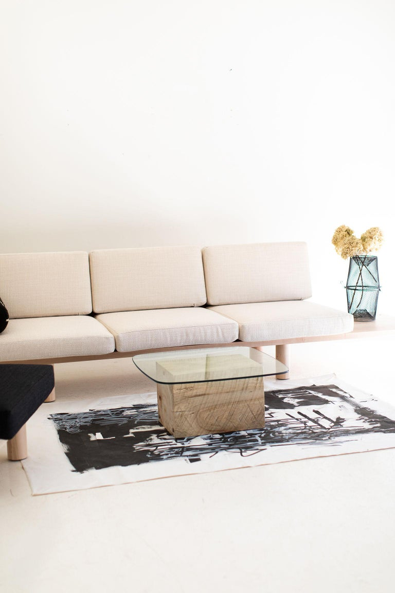 Modern Glass Top Coffee Table For Sale 6