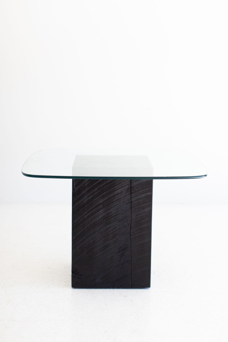 Modern Glass Top Coffee Table For Sale 7