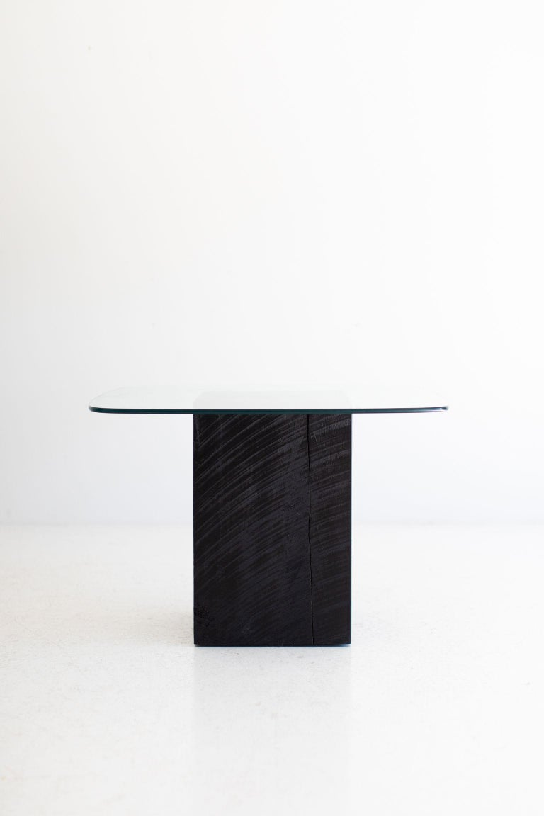 American Modern Glass Top Coffee Table For Sale