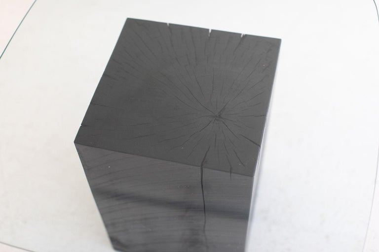 Contemporary Modern Glass Top Coffee Table For Sale