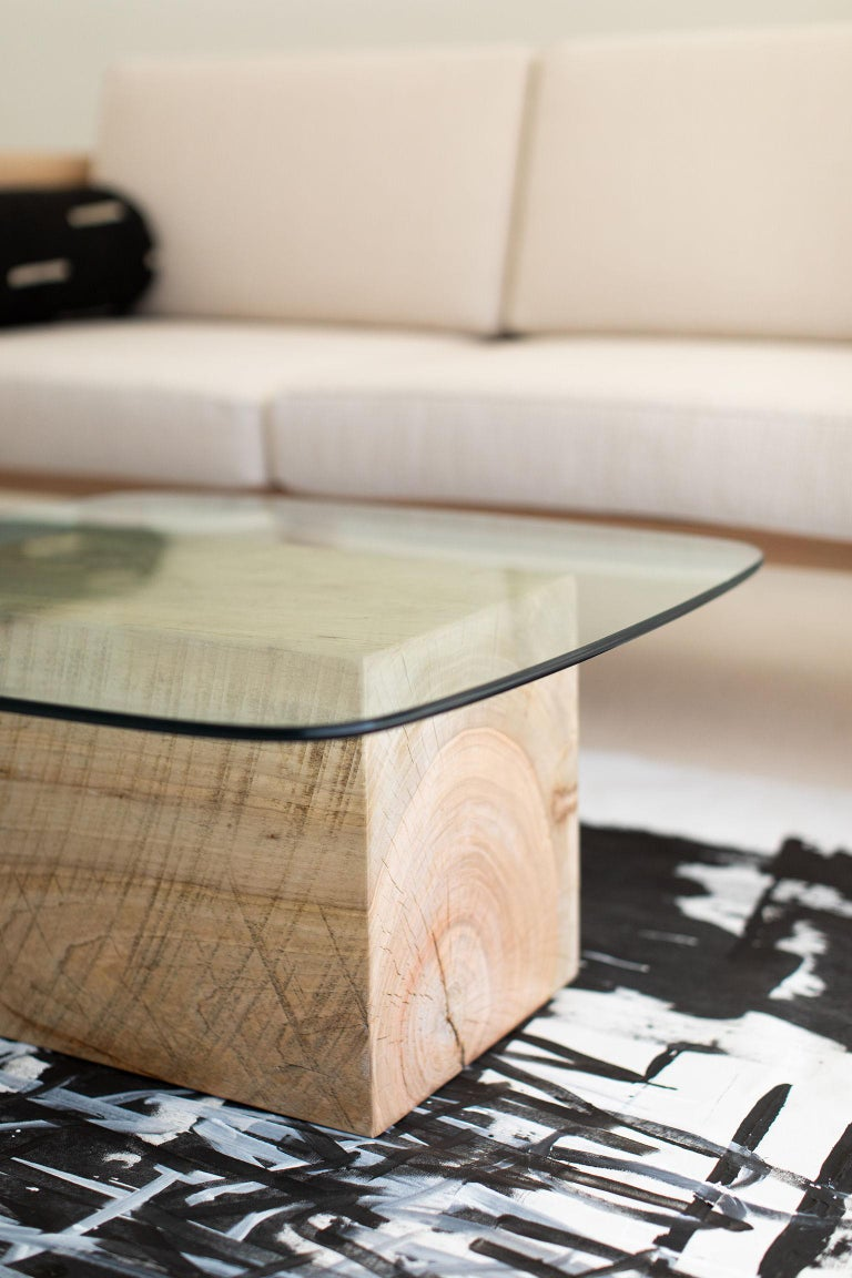 Modern Glass Top Coffee Table For Sale 1