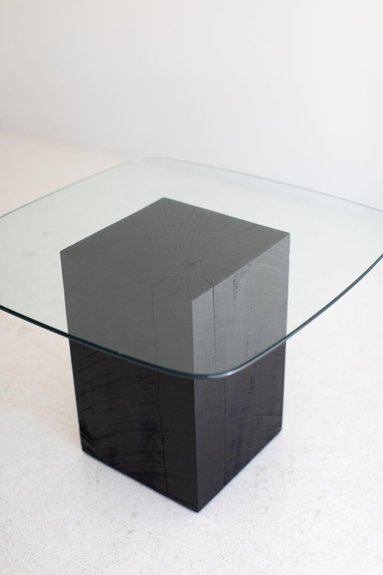 Modern Glass Top Coffee Table For Sale 2
