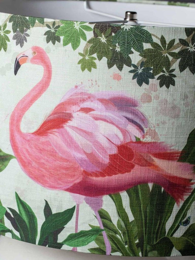 Modern Glazed Pottery Hand Made Vase Custom Lamp Flamingo Shade For Sale 5