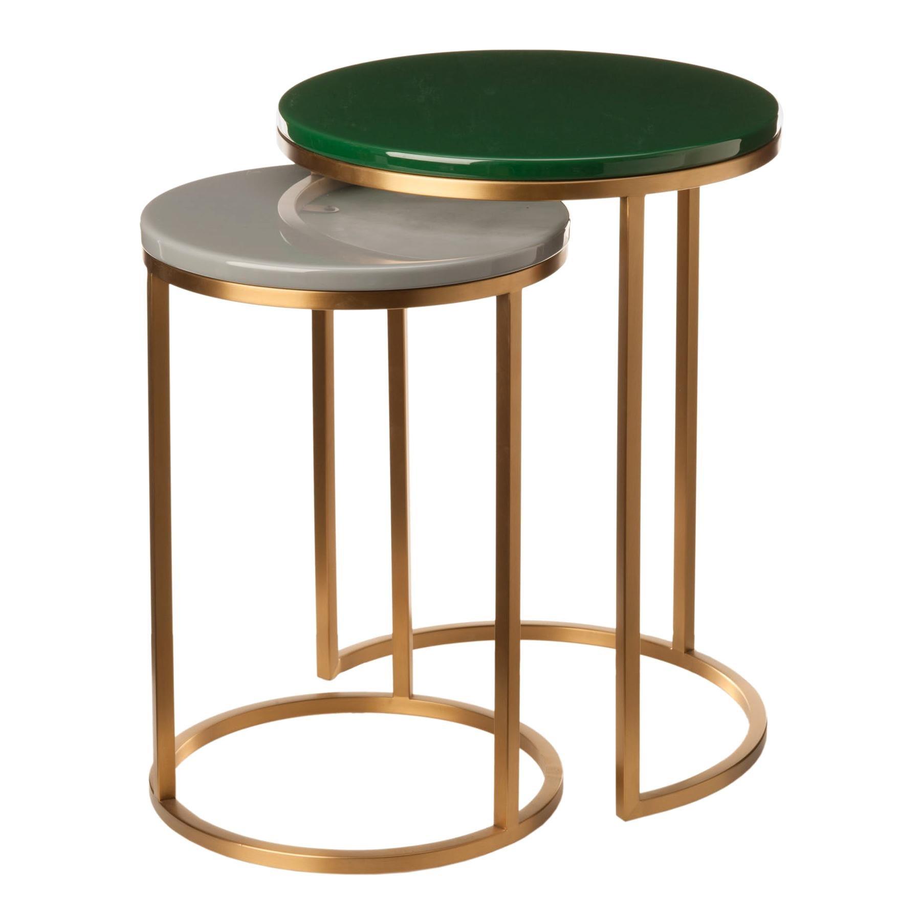 Modern Glossy Side Table, Pols Potten Studio