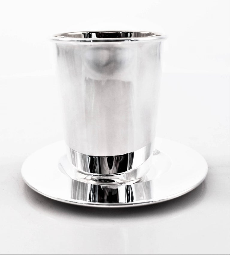 Italian Modern Goblet and Tray For Sale