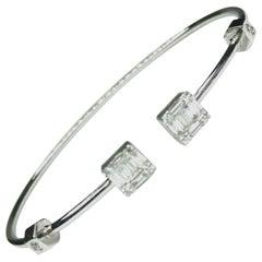 GEMOLITHOS Modern Gold and Diamond Bracelet