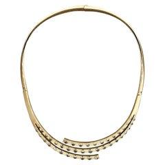 Modern Gold Opal Necklace