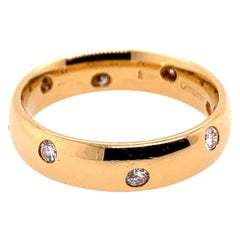 Modern Gold Ring 0.45 Carat Natural Colorless Diamond Engagement Eternity Ring