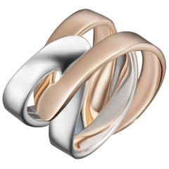 Modern Gold Two-Piece Duo Friendship Promise Ring
